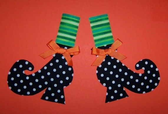 Fabric Applique TEMPLATE ONLY Witch Shoes via Etsy