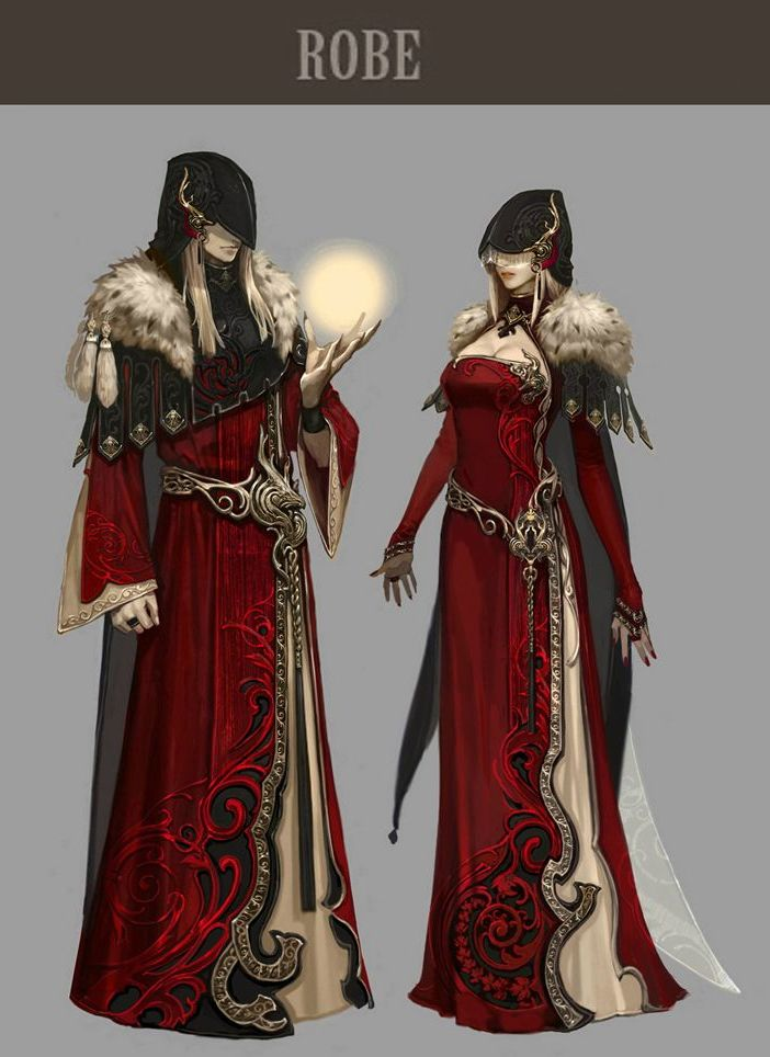 Difference Between Concept Art And Character Design : Aion concept art costuming character design