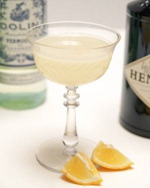 Corpse Reviver No. 2: Dry Gin, Cointreau, Lillet/Dolin Blanc, Lemon Juice, dash of Absinthe