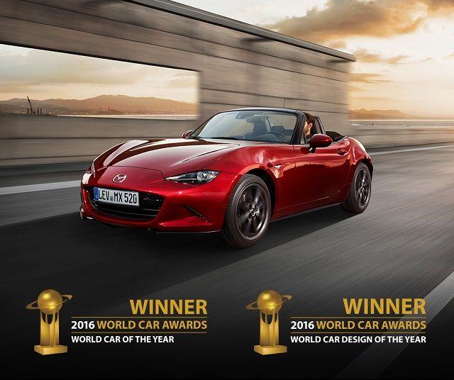 Mazda MX-5 conquista dois prémios 'Melhor do Ano 2016'