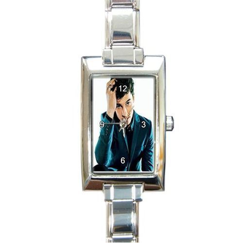 Shaun Mendes Rectangle Italian Charm Watch Stainless Steel Silver #Unbranded