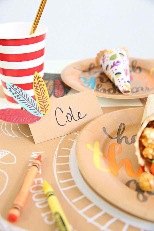 Paper Craft Thanksgiving Placecards #howlifeunfolds #ad   Kim Byers