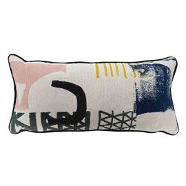 Heal's Limited Edition Pink Assemble Cushion By Laura Slater