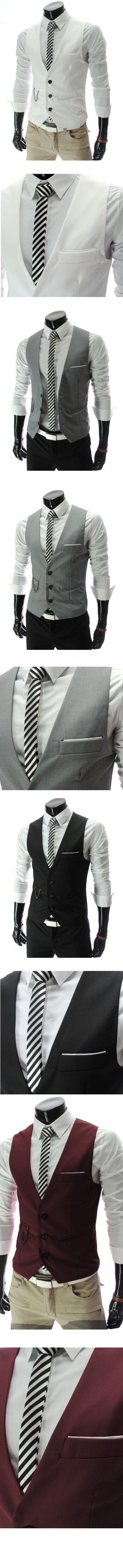 Buy Men's Vests Suit Vest Gilet Homme Business Jacket Vest Dress Vests For Men Slim Fit Mens Suit Vest now. Sale. 1-3CM Error is allowed Slight color difference is allowed for different computer display