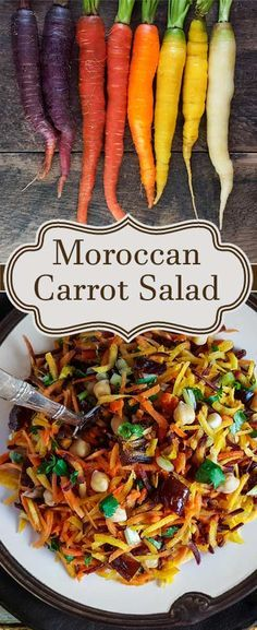 Farmers market carrots & moroccan flavors (dates, pistachios, turmeric) - make for an exciting weekday salad.