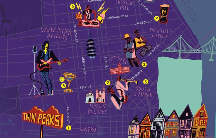 San Francisco Map | Red Report mag., 2013 | Nik Neves