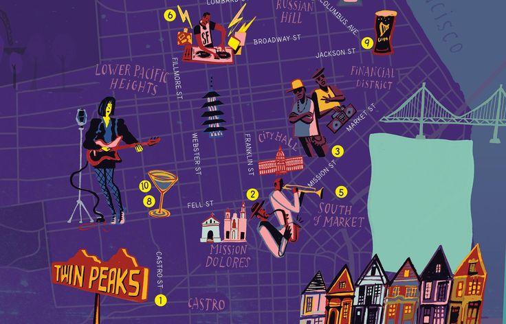 San Francisco Map | Red Report mag., 2013 | Nik Neves