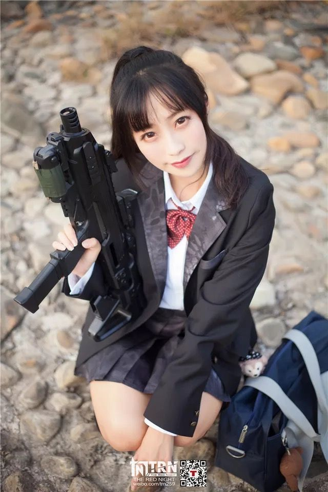 Can japanese girls with airsoft guns shooting