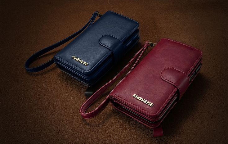 5.5 Inch Floveme Detachable Zipper Wallet Case For iPhone 8/7/6/6s Plus