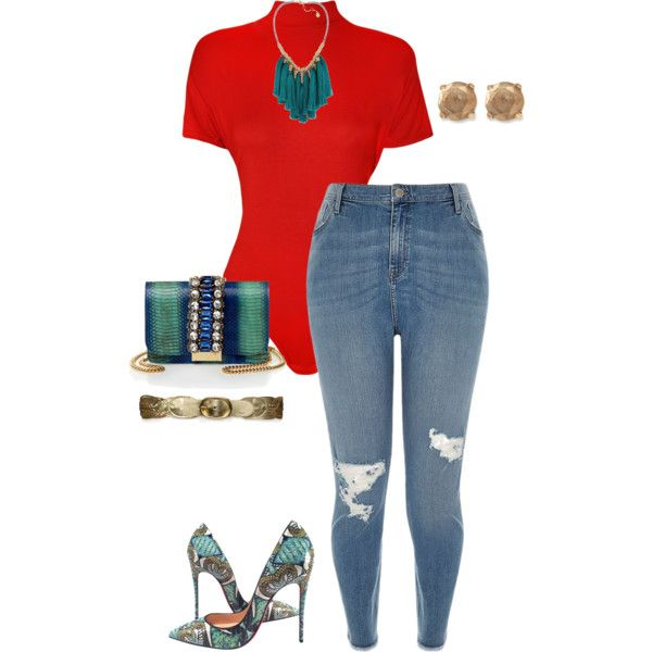 A fashion look from June 2016 featuring River Island jeans, WearAll and Christian Louboutin pumps. Browse and shop related looks.