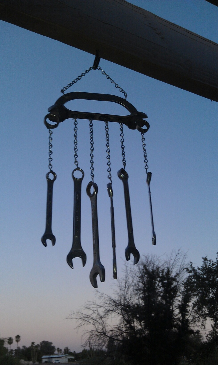 Wrench wind chime it make the