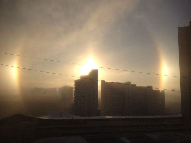 The optical phenomenon halo in Moscow on Jan 7