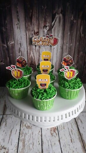 Clash of clans cupcake