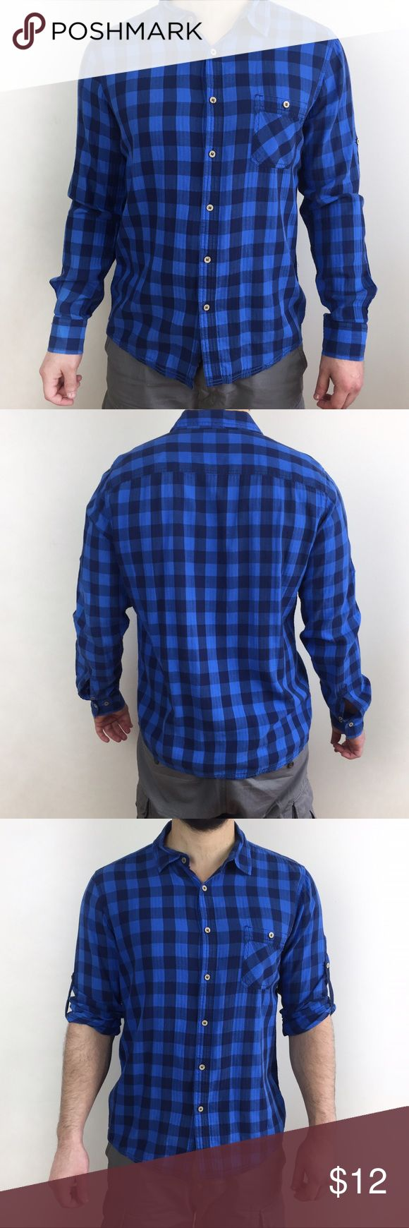 2x$15 PULL & BEAR ZARA PLAID SHIRT Pull and bear, Zara indicted sister company, plaid shirt in size XL Europe, fits like a L USA. Used condition with look and feel of pre owned, no stains or holes. 1x$12 2x$15 Zara Shirts