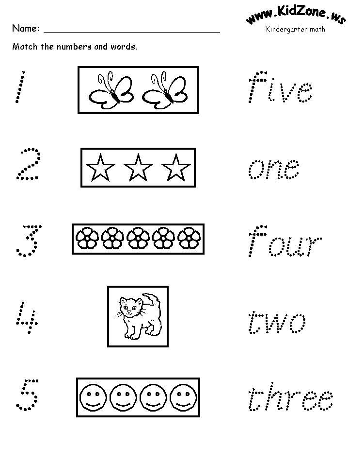Free Printable Matching worksheets   Preschool math ...