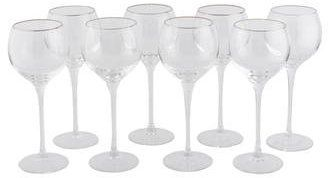 Lenox Set of Eight Solitaire White Wine Glasses  {affiliate link}