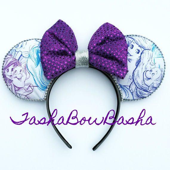 Ariel & Flounder Drawn Together Minnie / Mickey by TashaBowBasha