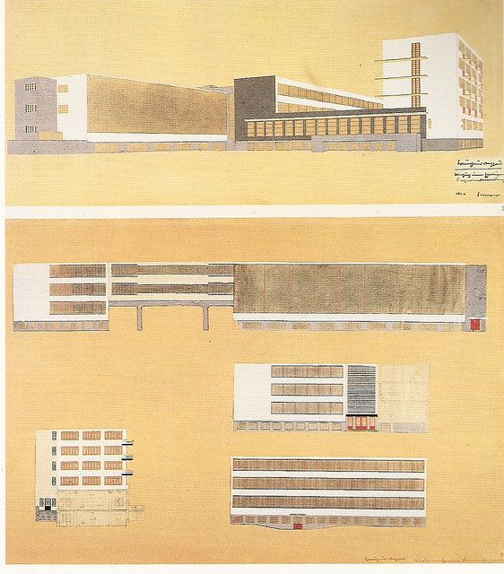 Dessau Bauhaus Drawings  Dessau, Germany, 1926 by Walter Gropius