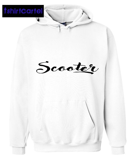 Scooter White Hoodie  #shirt #tshirt #t-shirt #clothing #DTG #DTGprinting #fashion #design #hoodie #jumper #sweatshirt