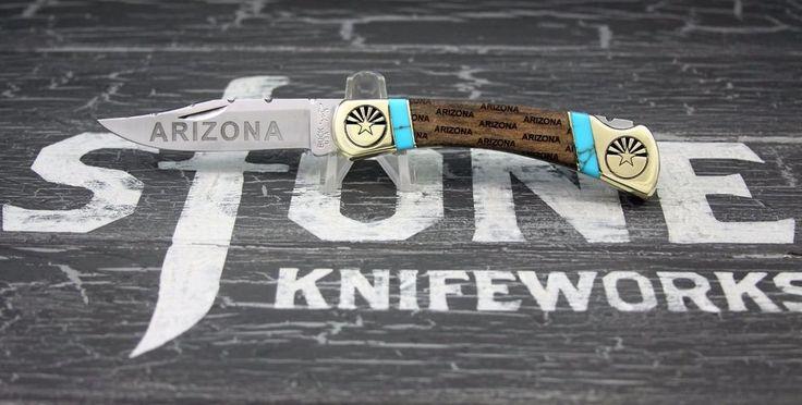 Customized Buck Knife 110 Arizona Series By: Stone Knifeworks