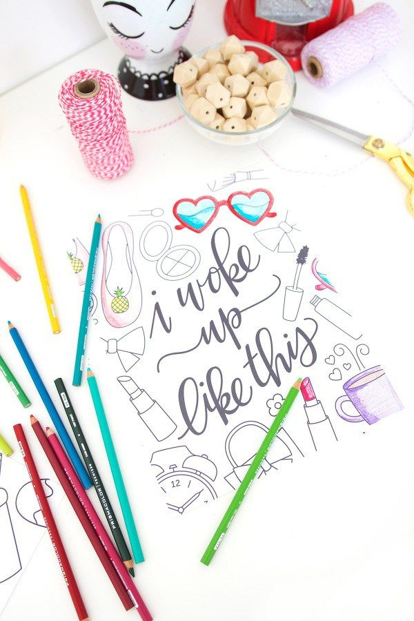 Free Printable – Beyonce Song Lyric Coloring Sheets