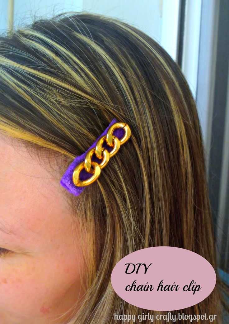 DIY chunky chain hair pin