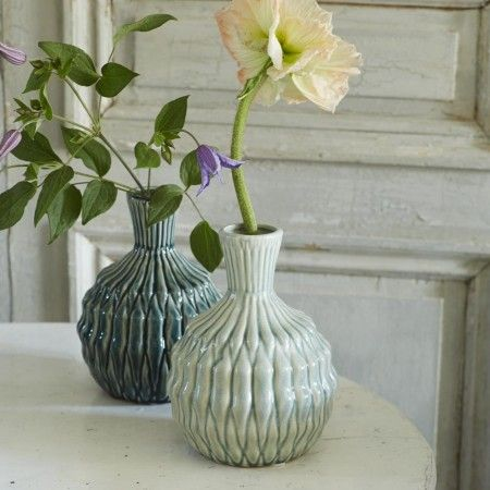 Round Mint Pleated Vase - View All Home Decoration - Home Decoration - Home Accessories