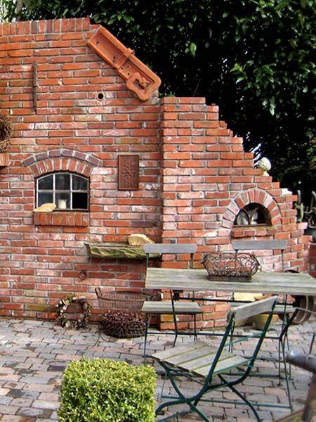 im trend eine ruine als gartendeko gartenmauer garten ruinenmauer und steinmauer garten. Black Bedroom Furniture Sets. Home Design Ideas