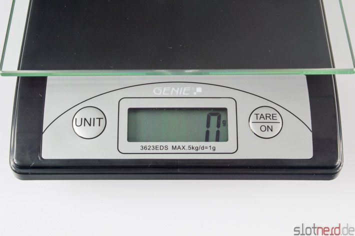 Test: Genie 3623 EDS Digitale Briefwaage - Genie 3623 EDS Display Scalextric