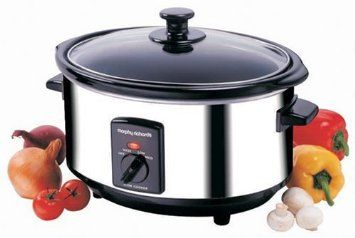 Morphy Richards 48710 Oval Slow Cooker, 3.5 Litre, Stainless Steel: Amazon.co.uk: Kitchen & Home