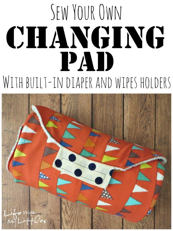 Easy DIY changing pad tutorial. A great baby shower gift, easy to sew, and it even holds diapers and wipes inside!