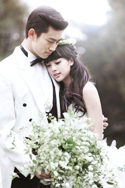 Korean Pre Wedding Photoshoot - 2PM Taecyeon and Gui Gui on We Got Married