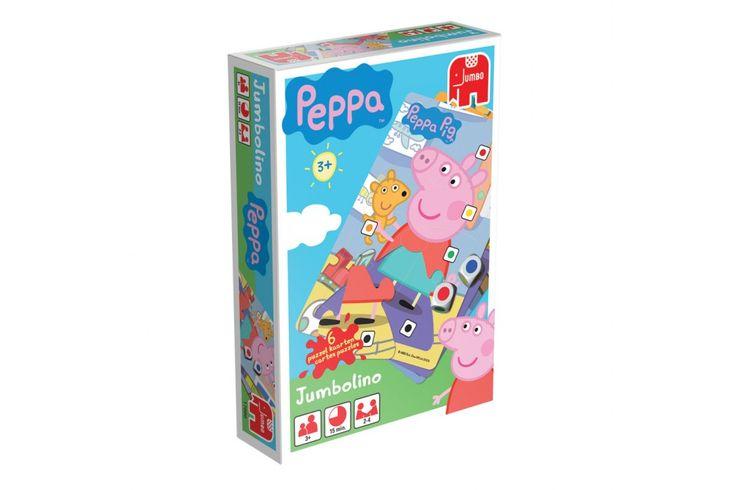 Peppa Jumbolino is een spannend, kleurrijk en leerzaam spel voor de allerkleinsten. Leer je kindje gooien met twee kleurendobbelstenen en verzamel ondertussen onderdelen van de leuke en grappige Jumbolino's! #jumbo #kindercadeau #peppa