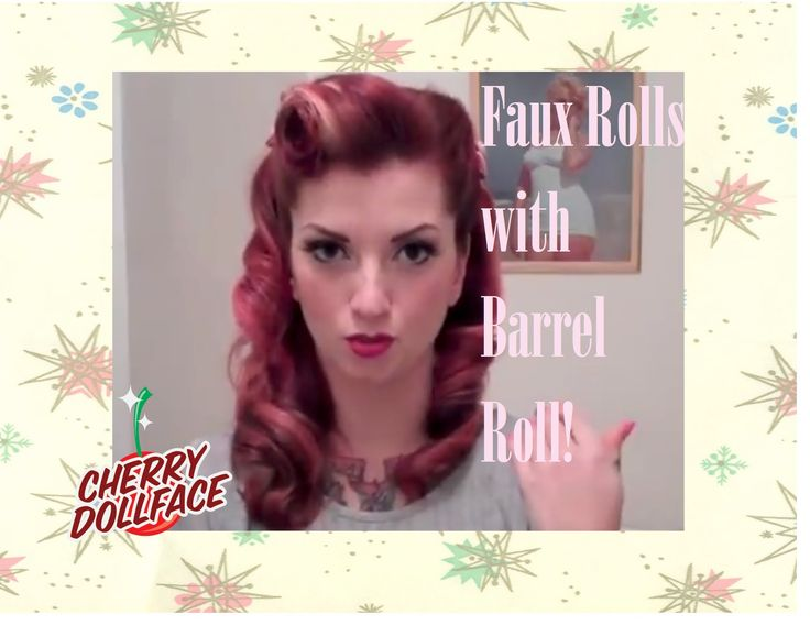 A lot of you gals are having trouble with victory rolls. Here is an easy way to fake them that still looks super cute and lasts all day! Subscribe for more! ...