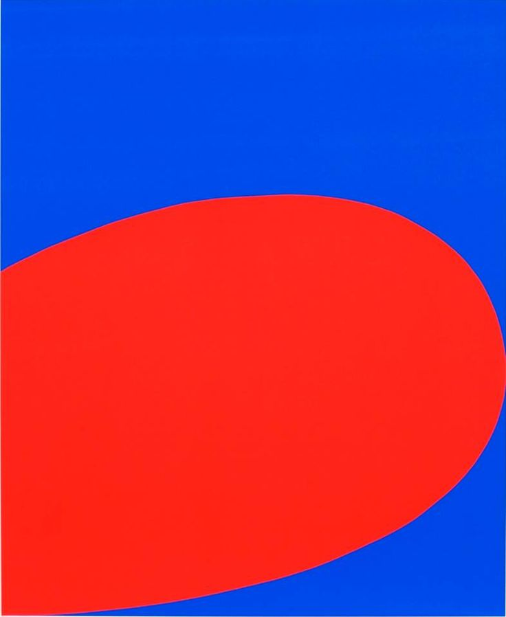 Ellsworth Kelly blue and red