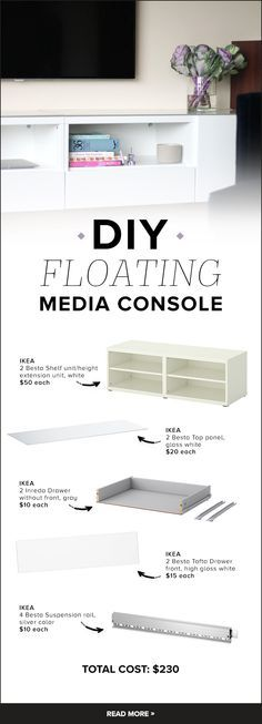 DIY this floating media console with parts from Ikea
