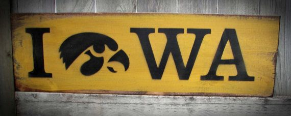 Hey, I found this really awesome Etsy listing at https://www.etsy.com/listing/193610726/iowa-hawkeye-wood-sign