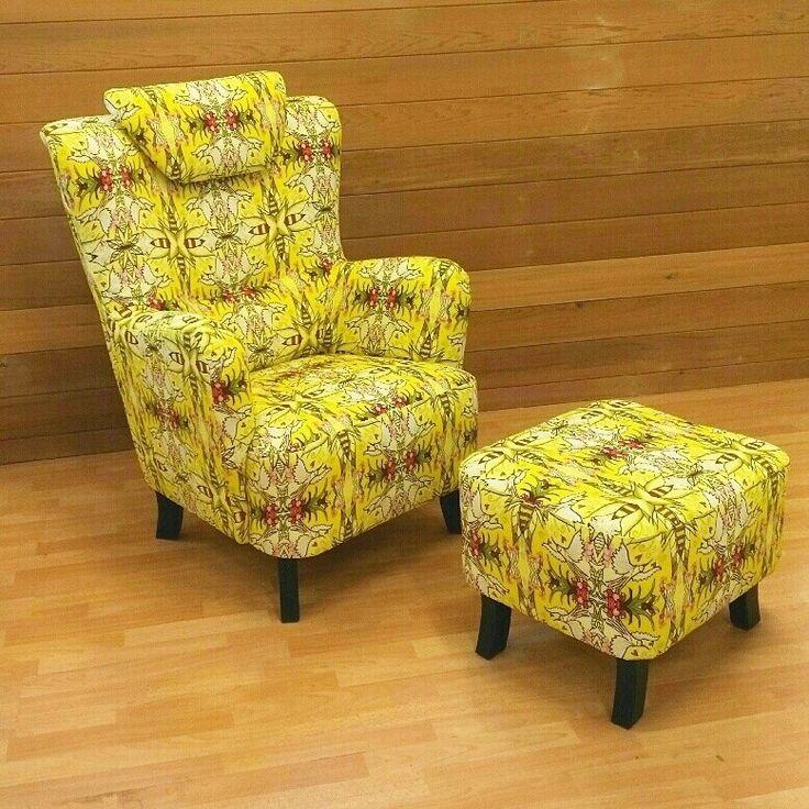 Viemerö Tuusulassa valitsi nojatuoliin kauniin kankaan! KolibriKultaPieni
