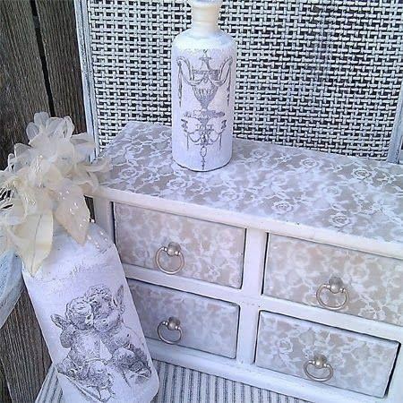 Spray over lace on furniture... I think yes!
