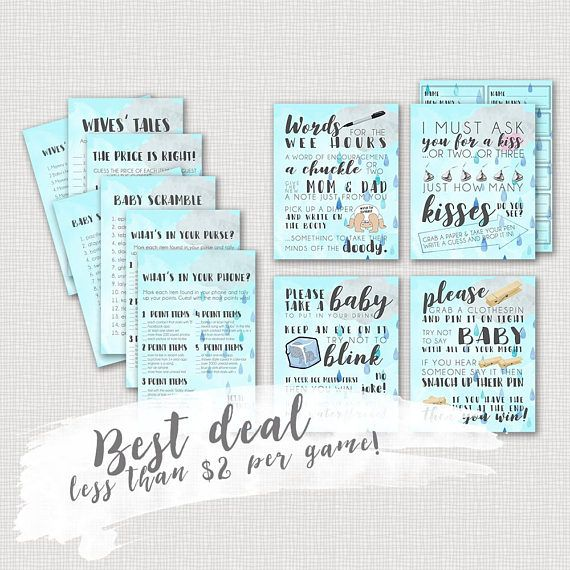 Wow... Less Than $2 Per Game For This Adorable Baby Shower Package On
