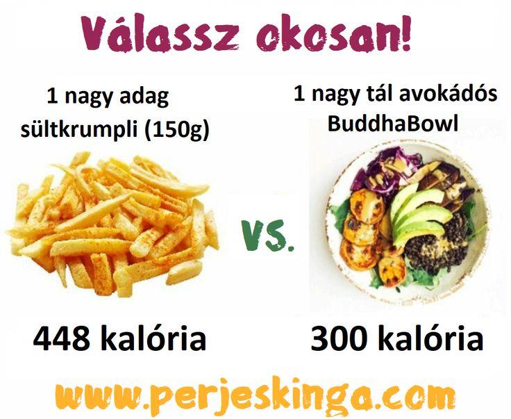 Válassz okosan! || #sültkrumpli #saláta || www.perjeskinga.com
