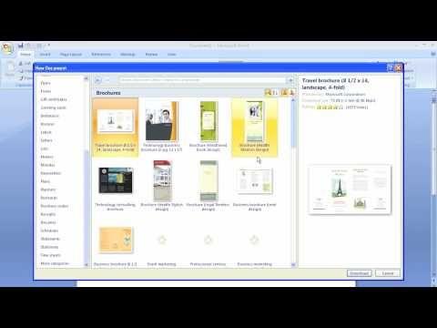 Microsoft Word Brochure Template - YouTube She conquers - microsoft word pamphlet template