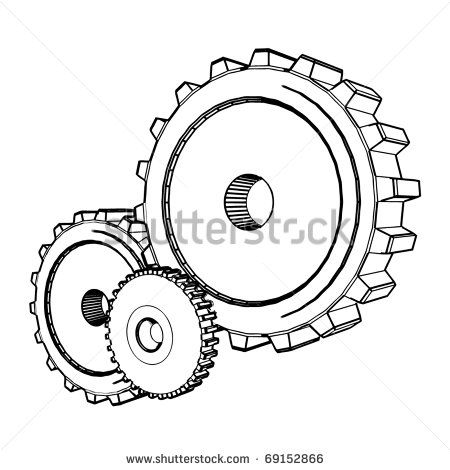 13 best cogs and gears images on Pinterest | Gear tattoo ...