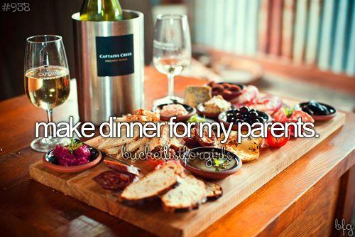 Make dinner for my parents // BucketList