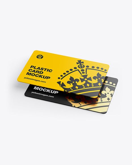 Two Plastic Cards Mockup. Present your design on this mockup. Simple to change t…