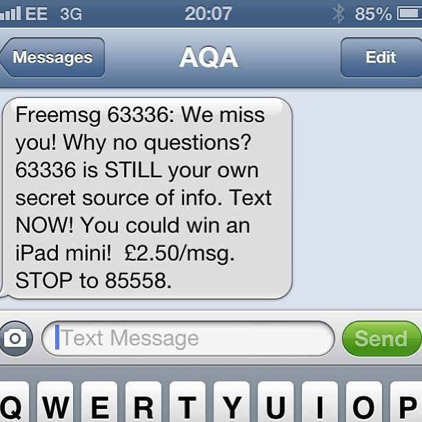 .@Matthew Crosby | Aw! The smart phone killed you, AQA. That's why.