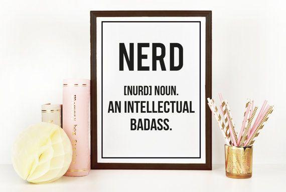 Nerd Definition Print | Geekery | Kitchen Art | Office Art | Funny Art | Home Decor | Art Print | Fuzzy and Birch