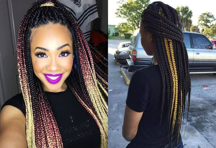Hottest Box Braids Natural Hair Colors 2017 Highlights