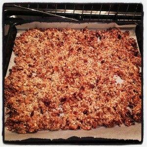 Zelfgemaakte muesli (granola)