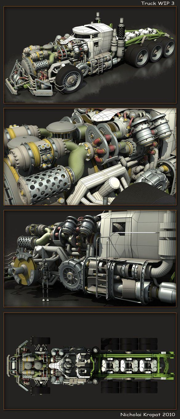 Truck WIP 3 by chiaroscuro on DeviantArt
